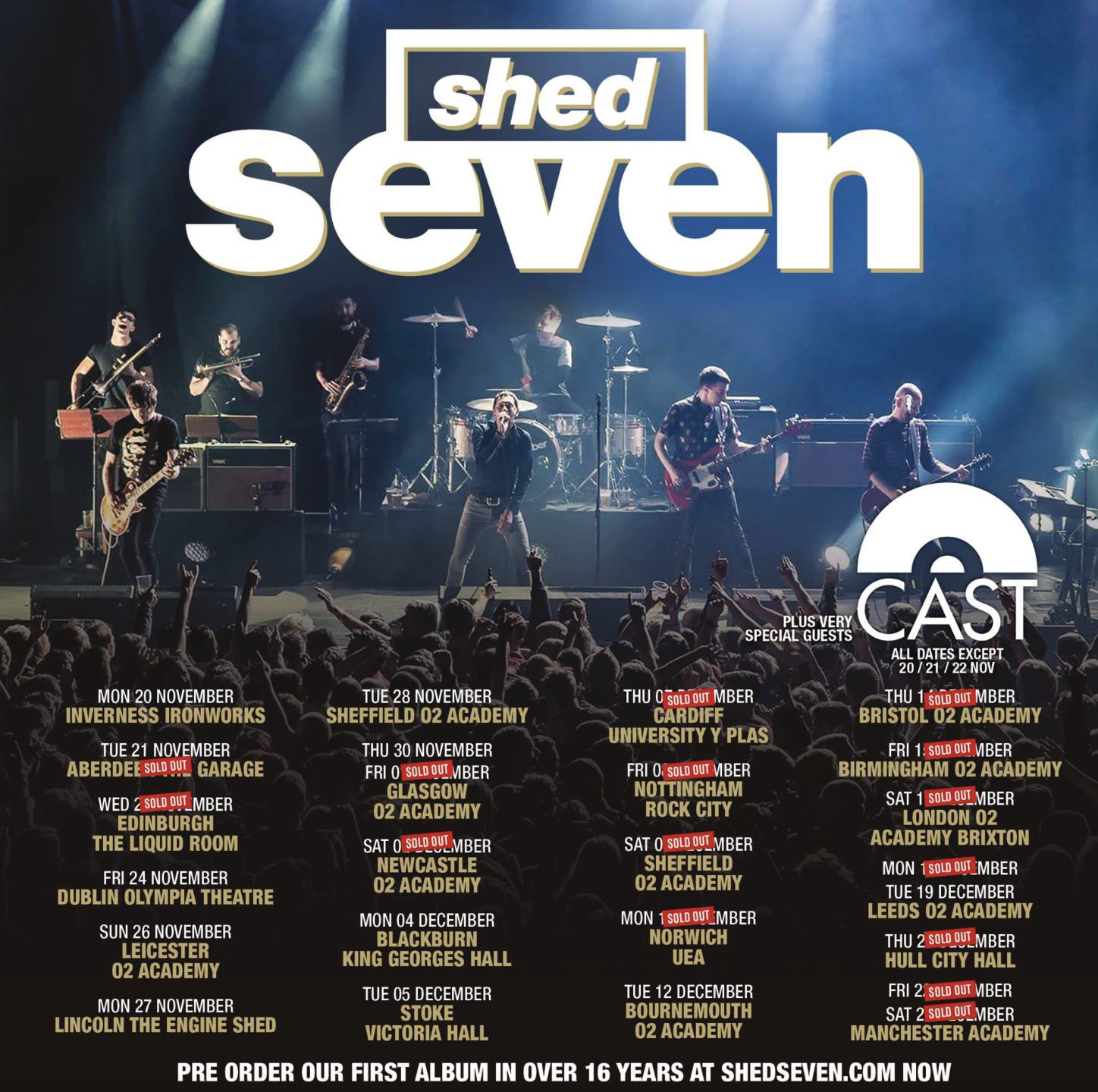 FEATURED REVIEW: SHED SEVEN AT 02 ACADEMY, SHEFFFIELD
