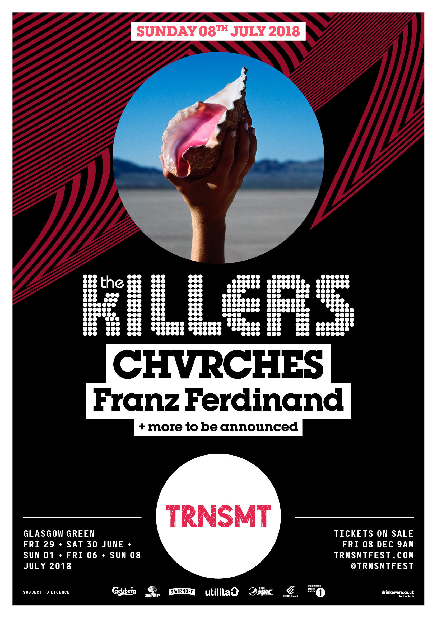 TRNSMT: NEW HEADLINER THE KILLERS PLUS CHVRCHES AND FRANZ FERDINAND