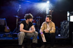 Gordon Smart interviewing Tom Grennan at The Monarch for Red Stripe Presents: This Feeling TV episode six.