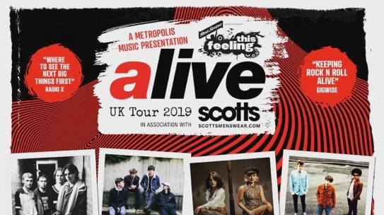 THIS FEELING ALIVE TOUR HITS VENUES THIS OCTOBER