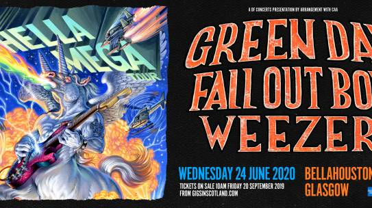 GREEN DAY, FALL OUT BOY & WEEZER ANNOUNCE GLOBAL HELLA MEGA TOUR HITTING GLASGOW